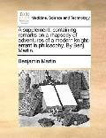 Supplement : Containing remarks on a rhapsody of adventures of a modern knight-errant in phi...
