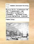 Essays for the Improvement of Arts, Manufactures, and Commerce, by Means of Chemistry : ... ...