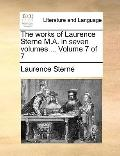 Works of Laurence Sterne M a In