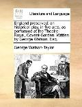 England Preserved : An historical play, in five acts, as performed at the Theatre-Royal, Cov...