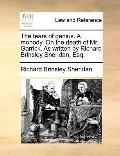 Tears of Genius a Monody on the Death of Mr Garrick As Written by Richard Brinsley Sheridan,...