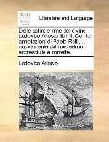 Delle Satire E Rime Del Divino Ludovico Ariosto Libri II con le Annotazioni Di Paolo Rolli, ...