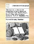 Duenna, or the Double Elopement, a Comic Oper : As performed at the Theatre-Royal, Smock-All...