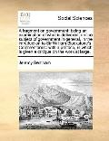 Fragment on Government; Being an Examination of What Is Delivered, on the Subject of Governm...