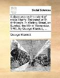 Discourse on the Extent of Social Liberty Delivered at St Anthony's, in Watling Street, on S...