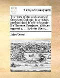Lives of the Professors of Gresham College : To which Is prefixed the life of the founder, S...