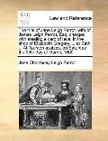 Trial of Jane Leigh Perrot, Wife of James Leigh Perrot, Esq; Charged with Stealing a Card of...