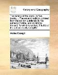 History of the World, in Five Books the Seventh Edition, Printed from the Edition Publishád ...