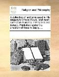 Collection of Anthems Used in His Majesty's Chapel Royal, and Most Cathedral Churches in Eng...