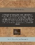 Articles of enquiry and direction for the diocese of Norwich in the first visitation of the ...