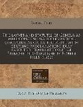 lavves and statutes of Geneua as well concerning ecclesiastical discipline, as ciuill regime...