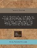 An introduction to the skill of musick in two books. The first: the grounds and rules of mus...