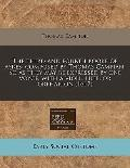 Third and Fourth Booke of Ayres : Composed by Thomas Campian. So as they may be expressed by...