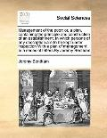 Management of the Poor : Or, a plan, containing the principle and construction of an establi...