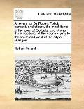 Answers for Sir Robert Pollok, Baronet, and Others, the Inhabitants of the Town of Gorbals, ...