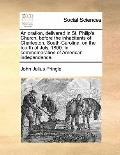 Oration, Delivered in St Philip's Church, Before the Inhabitants of Charleston, South-Caroli...