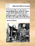 Catalogue of the Libraries of That Learned Antiquarian Nathaniel Boothe, and Others, Purchas...