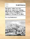 State Preferable to the Church : Or, reasons for making sale of the whole present property o...