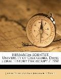 Herbarium Scientist, University of California, Davis : Oral history Transcript / 1988