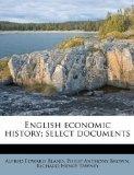 English economic history; select documents