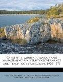 Careers in mining geology and management, university governance and teaching: transcript, 19...