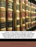 Instructions from the Regents of the University, to the Several Colleges, Academies, and Oth...