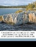 Harmony of the Life of St Paul According to the Acts of the Apostles and the Pauline Epistles