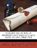 Assessed Valuation of Property and Amounts and Rates of Levy 1860-1912