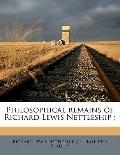 Philosophical Remains of Richard Lewis Nettleship;