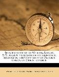 Selected Letters of William Bright, D D; Regius Professor of Ecclesiastical History in the U...