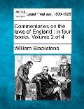 Commentaries on the laws of England: in four books. Volume 2 of 4