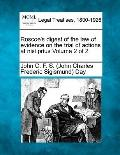 Roscoe's digest of the law of evidence on the trial of actions at nisi prius Volume 2 of 2