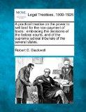 A practical treatise on the power to sell land for the non-payment of taxes: embracing the d...