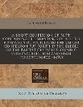 A short confession of faith containing the substance of all the fundamental articles in the ...