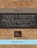 Israel redux, or, The restauration of Israel, exhibited in two short treatises the first con...