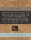 Christian counsel and advice unto the rulers and people of England even unto all such who ha...