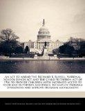An act to amend the Richard B. Russell National School Lunch Act and the Child Nutrition Act...