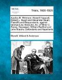 Apollos R. Wetmore, Howell Hoppock, Robert L. Stuart and Alexander Stuart, Plaintiffs and Re...
