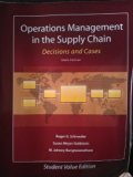 Operations Management in The Supply Chain: Decisions and Cases, 6th ed.