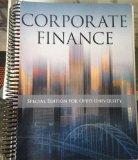 Corporate Finance Ohio Univ W/unused Connect Card