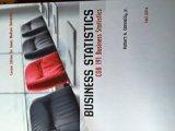 Business Statistics COB 191 (Custom Edition for James Madison University)