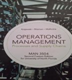 Operations Management Processes and Supply Chains MAN3504 Second Custom Edition for Universi...