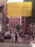 Statistics for Business and Economics Third Custom Edition for New York University