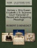 Holmes v. Ship Queen Elizabeth U.S. Supreme Court Transcript of Record with Supporting Plead...