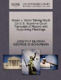 Green v. Victor Talking Mach Co U.S. Supreme Court Transcript of Record with Supporting Plea...