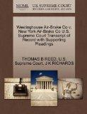 Westinghouse Air-Brake Co v. New York Air-Brake Co U.S. Supreme Court Transcript of Record w...