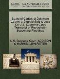 Board of Com'rs of Delaware County v. Diebold Safe & Lock Co U.S. Supreme Court Transcript o...