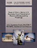 Town of Ohio v. Marcy U.S. Supreme Court Transcript of Record with Supporting Pleadings