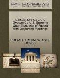 Bestwall Mfg Co v. U S Gypsum Co U.S. Supreme Court Transcript of Record with Supporting Ple...