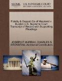 Fidelity & Deposit Co of Maryland v. Burden U.S. Supreme Court Transcript of Record with Sup...